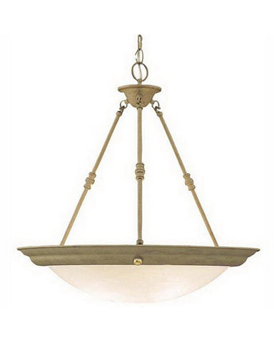 International Lighting 3610-43 Three Light Pendant Chandelier in Silver Rust Finish - Quality Discount Lighting