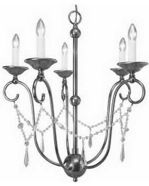 International Lighting 13749-53 Five Light Chandelier in Brushed Nickel Finish - Quality Discount Lighting