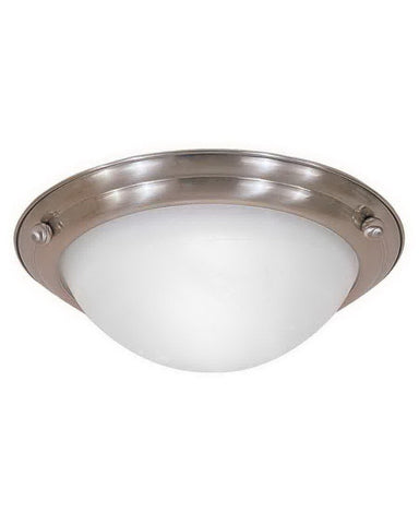 International Lighting E8429-53 One Light Energy Efficient Fluorescent Flush Ceiling in Brushed Nickel Finish - Quality Discount Lighting