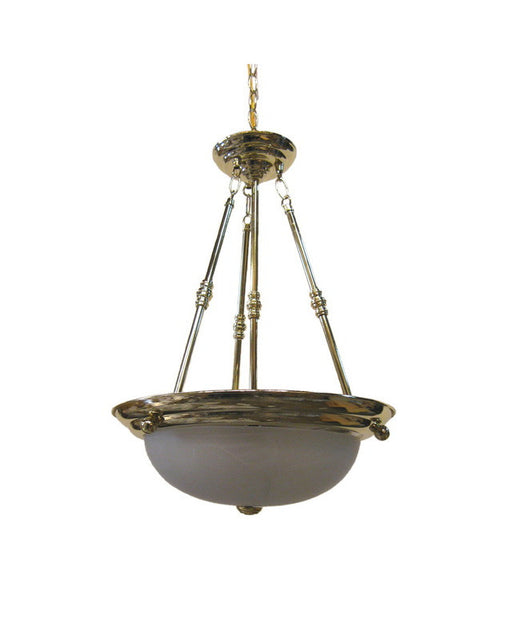 International Lighting 5379-10 Three Light Pendant Chandelier in Polished Brass Finish - Quality Discount Lighting