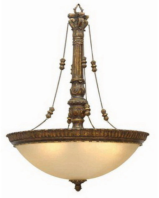 International Lighting LI2468 MG Six Light Pendant Chandelier in Moroccan Gold Finish - Quality Discount Lighting