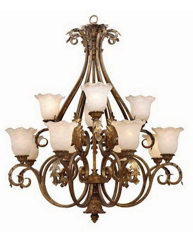 International Lighting LI2422 MG Twelve Light Chandelier in Moroccan Gold Finish - Quality Discount Lighting