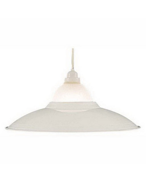 International Lighting 3607-30 One Light Pendant in White Finish - Quality Discount Lighting