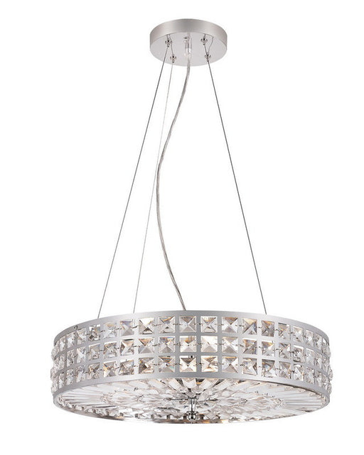 Trans Globe Lighting PND-918 Six Light Pendant Chandelier in Polished Chrome Finish and Crystal - Quality Discount Lighting