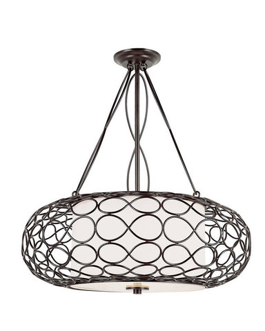 Trans Globe Lighting PND-821 Three Light Pendant Chandelier in Brown Finish - Quality Discount Lighting