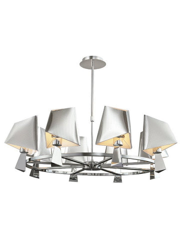Trans Globe Lighting MDN952 Eight Light Chandelier in Polished Chrome Finish - Quality Discount Lighting