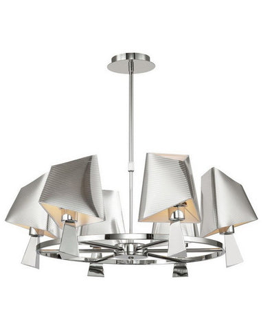 Trans Globe Lighting MDN951 Six Light Chandelier in Polished Chrome Finish - Quality Discount Lighting