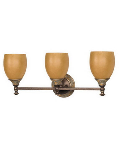 Nuvo Lighting 60-459 Rockport Tuscano Collection Three Light Bath Vanity Wall Mount in Dorado Bronze Finish - Quality Discount Lighting