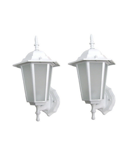 Epiphany Lighting EB464-13WH TWO PACK Exterior Outdoor Energy Efficient Wall Lantern in White Finish - Quality Discount Lighting