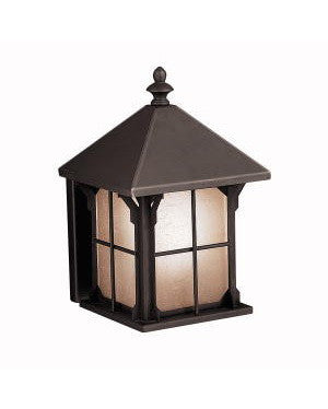 Kichler Lighting 10968 OZ Astoria Collection One Light Energy Efficient Fluorescent Outdoor Exterior Wall Lantern in Olde Bronze Finish - Quality Discount Lighting