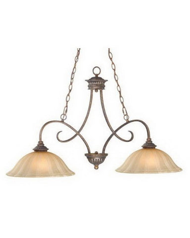 Vaxcel Lighting GO-PDD420 FP Two Light Island Chandelier in Forum Patina Finish - Quality Discount Lighting