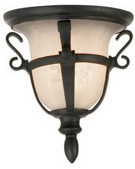 Kalco Lighting 9407 MB Three Light Exterior or Interior Flush Ceiling Mount in Mayan Bronze Finish - Quality Discount Lighting