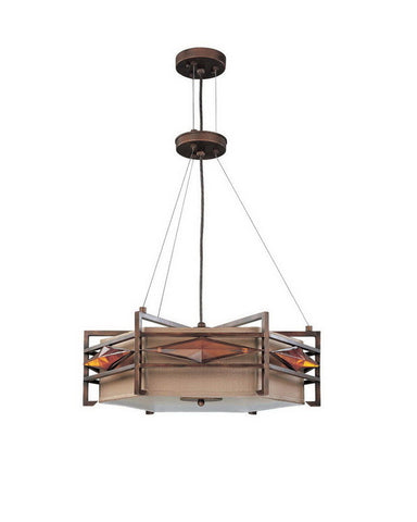 Nuvo Lighting 60-3875 Gable Collection Three Light Energy Star Efficient Fluorescent GU24 Pendant Chandelier in Gramercy Bronze Finish - Quality Discount Lighting