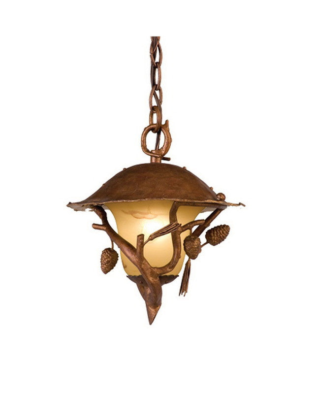 Kalco lighting 9166 ns one light outdoor exterior hanging pendant lantern in burnt sienna finish