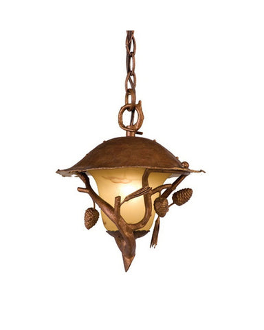 Kalco Lighting 9166 NS One Light Outdoor Exterior Hanging Pendant Lantern in Burnt Sienna Finish - Quality Discount Lighting