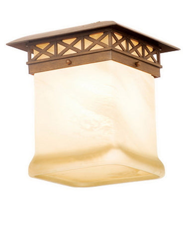 Kalco Lighting 9037 WT One Light Outdoor Exterior Ceiling Mount in Walnut Finish - Quality Discount Lighting
