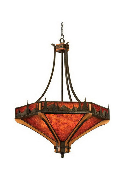 Kalco Lighting 5819 NI Six Light Pendant Chandelier in Natural Iron Finish - Quality Discount Lighting