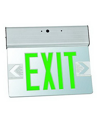 Razr EXT72GA-BB FOUR PACK LED Green Letter and Mirror Double Face Exit Sign Light