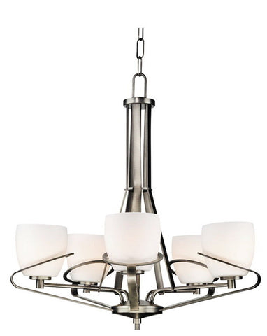 Forecast Lighting F1380-16 Illusions Collection 5 Light Chandelier in Gun Metal Finish