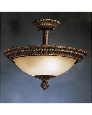 Kichler Lighting 10813 TZG Larissa Collection One Light Energy Efficent Fluorescent Semi Flush Ceiling Fixture in Tannery Bronze Finish - Quality Discount Lighting
