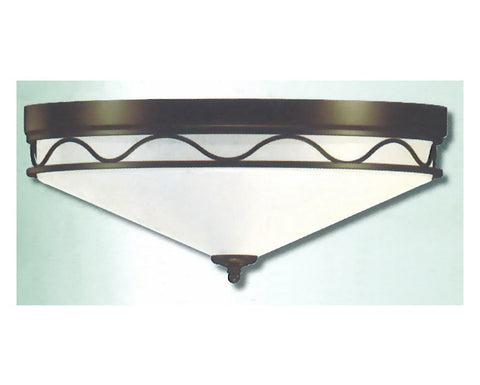 Epiphany Lighting 100636 ORB Three Light Flush Ceiling Mount in Oil Rubbed Bronze Finish - Quality Discount Lighting