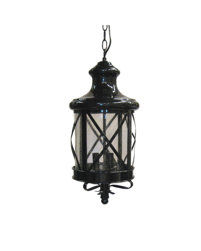 Epiphany Lighting 104894 Bk One Light Outdoor Exterior: Epiphany Lighting 104904 BK Three Light Hanging Outdoor