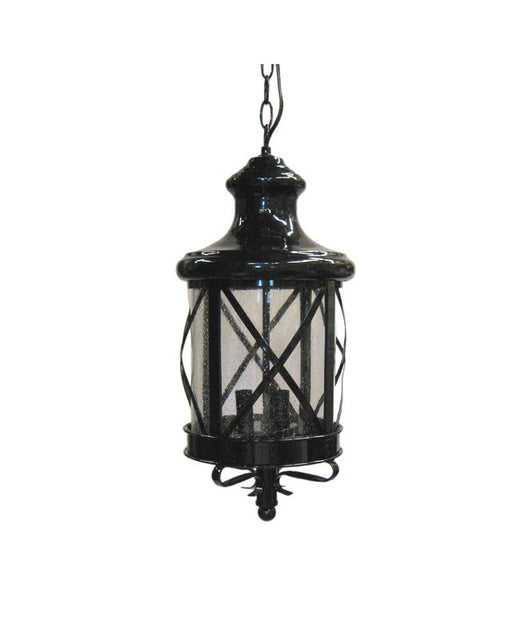 Epiphany Lighting 104904 BK Three Light Cast Aluminum Hanging Outdoor Exterior in Black Finish