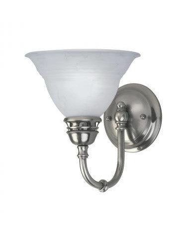 Kichler Lighting One Light Wall Sconce In Antique Pewter - Single light bathroom sconce