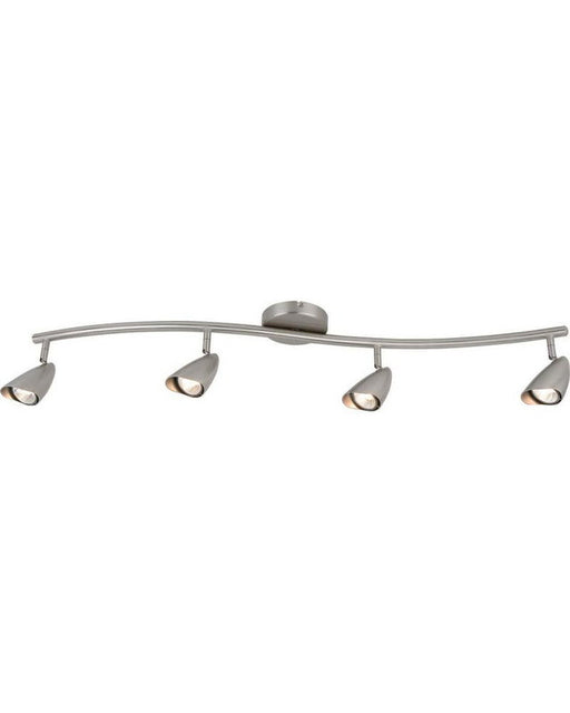 Globe Lighting 5747101 Four Light Halogen Ceiling Fixture in Brushed Steel Finish