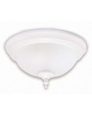 Globe Lighting 4270101 One Light Flush Ceiling in White Finish