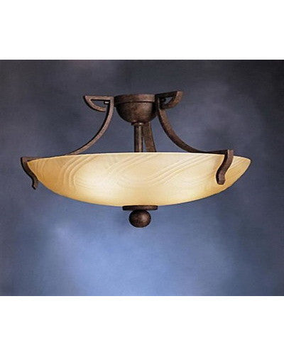 Kichler Lighting 10842 TZ One Light Energy Efficent Fluorescent Semi Flush Ceiling Fixture in Tannery Bronze Finish - Quality Discount Lighting