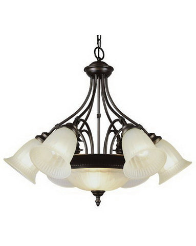 Trans Globe Lighting 6674 ROB Mediterranean Collection Chandelier in Rubbed Oil Bronze Finish