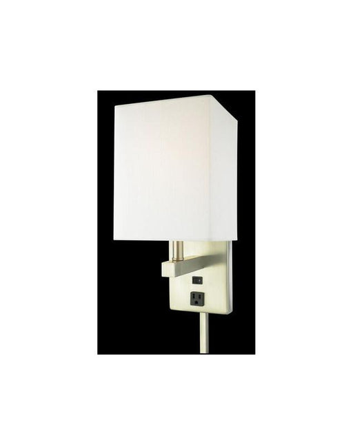 Quoizel Lighting MAR271B Plug In Wall Sconce in Brushed Nickel Finish. Outlet. On/Off Rocker Switch - Quality Discount Lighting