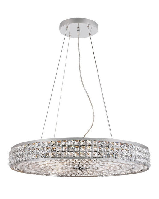Trans Globe Lighting PND-919 Fourteen Light Pendant Chandelier in Polished Chrome Finish and Crystal - Quality Discount Lighting