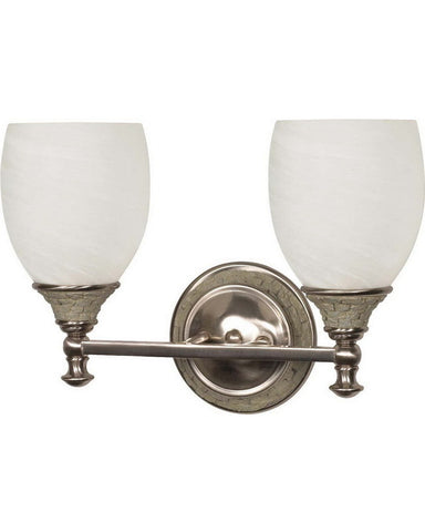 Nuvo Lighting 60-454 Rockport Milano Collection Two Light Bath Vanity Wall Mount in Brushed Nickel Finish - Quality Discount Lighting