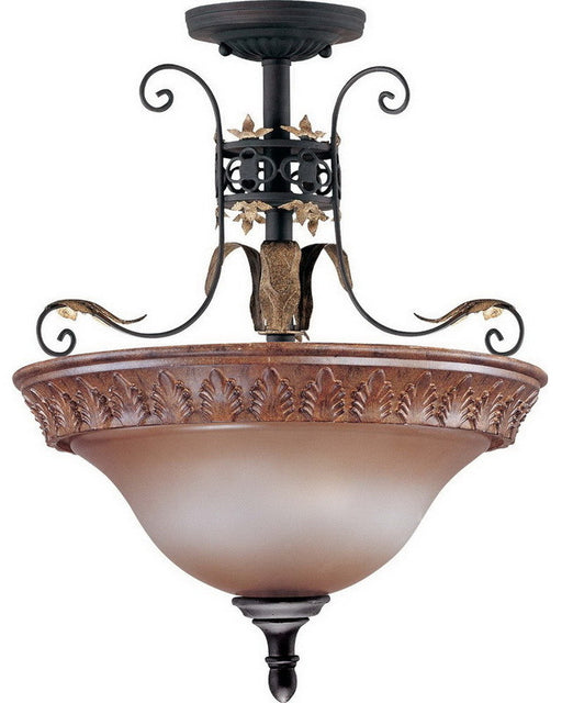 Nuvo Lighting 60-2105 Verdone Collection Two Light Flush Semi Flush Ceiling Fixture in Golden Cage Finish - Quality Discount Lighting