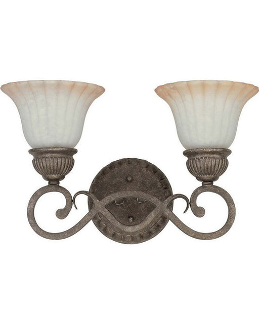Nuvo Lighting 60-2912 Fortunata Collection Two Light Wall Sconce in Lisbon Bronze Finish - Quality Discount Lighting