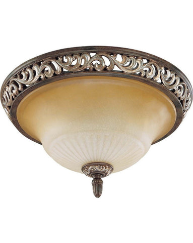 Nuvo Lighting 60-2712 Palermo Collection Three Light Ceiling Flush Mount in Cappuccino Finish - Quality Discount Lighting
