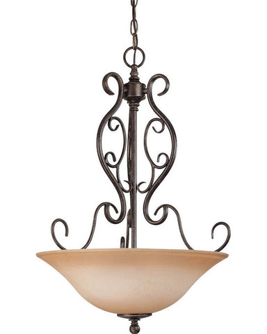 Nuvo Lighting 60-1507 Three Light Chandelier in Golden Umber Finish - Quality Discount Lighting