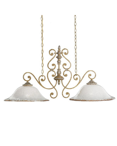 Kichler Lighting 2952 WBR Kendale Collection Two Light Hanging Island Chandelier in Wispy Brulee Finish - Quality Discount Lighting