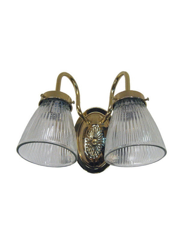 epiphany lighting 106030 clg3 pb two light bath wall fixture in