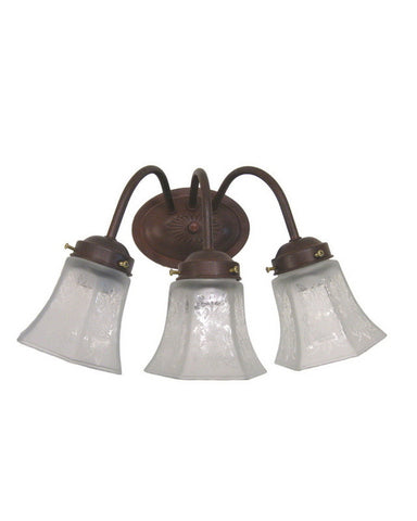 Epiphany Lighting 106032 CS-MA2150 Three Light Bath Wall Fixture in Cobblestone Finish - Quality Discount Lighting
