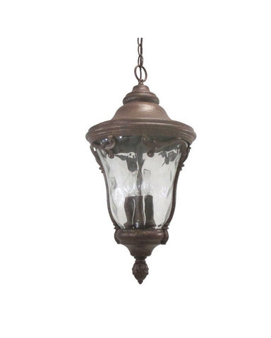 Kalco Lighting 9068 GP Four Light Outdoor Exterior Hanging Lantern in Gold Powder Finish - Quality Discount Lighting