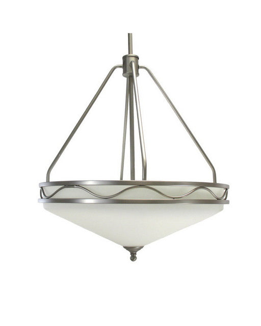 Epiphany Lighting 100332 BN Four Light Hanging Pendant Chandelier in Brushed Nickel Finish - Quality Discount Lighting