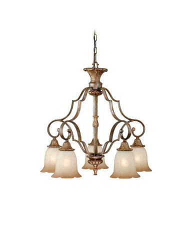 Vaxcel Lighting KB-CHD005 TZ Five Light Hanging Chandelier in Tuscan Bronze Finish - Quality Discount Lighting