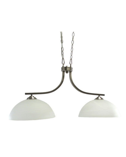 Epiphany Lighting 102516 BNTCC Two Light Island Pendant Chandelier in Brushed Nickel Finish - Quality Discount Lighting