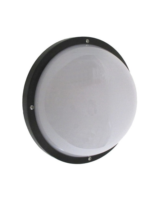 Rainbow Lighting FE351-G26 BF One Light Energy Efficient Fluorescent GU24 Exterior Wall or Ceiling Mount in Black Finish - Quality Discount Lighting