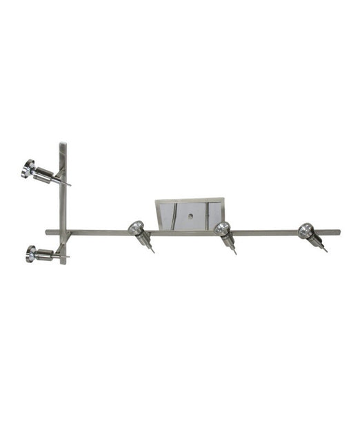 Epiphany Lighting PT4114 BN Five Light Semi Flush Rail Ceiling Fixture in Brushed Nickel Finish