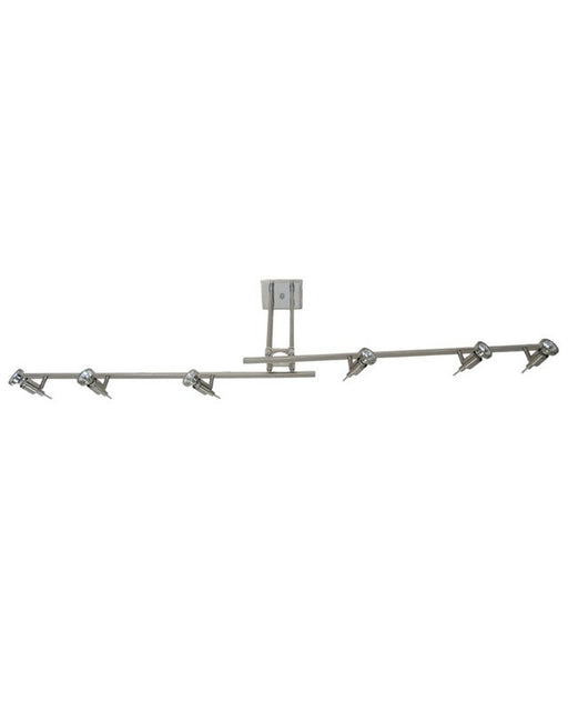 Epiphany Lighting PT4120 BN Six Light Semi Flush Rail Ceiling Fixture in Brushed Nickel Finish