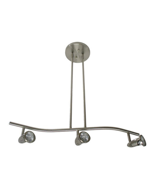Epiphany Lighting PT4106 BN Three Light Semi Flush or Drop Pendant in Brushed Nickel Finish